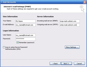 Configure Outlook 2003 with Outlook.com